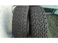 235/75/15 AT tyres x2 kingpin tracker