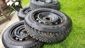 Selling used 205/60 R15 tires used once