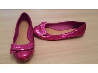 Size 5 cerise flat shoes from Bank