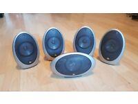 KEF egg HTS 1001 surround sound speakers, (No Subwoofer)