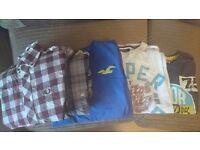 Mens designer bundle, 7 items: Fred Perry, Voi, Superdry, Levi. Tshirts, shirts, hoody, jacket