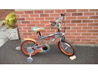 "Boys 16"" Bike with Stabilisers"