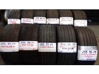 BRANDED 19 NEW & AS NEW PERFORMANCE TYRES FROM £45 loads more txt tyre size for price & av 7-days