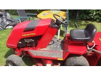Countax ride-on lawn mower 36in cut with sweeper collector.