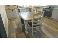 Gorgeous Table and chair sets - 5 & 6ft
