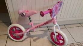 Pink Starlight balance bike 10 inch wheels