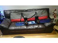 Atomic vantage 158cm snowboard . Burton freestyle boots size uk 8.5. F 50 bindings. board bag .