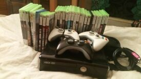 Xbox 360 + 27 games + 3 controllers (EMAIL OR CALL ONLY)