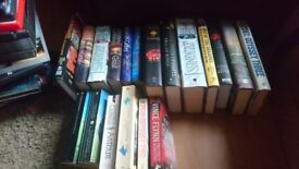 Books and Dvd job lot. All genres. Suitable for resale.