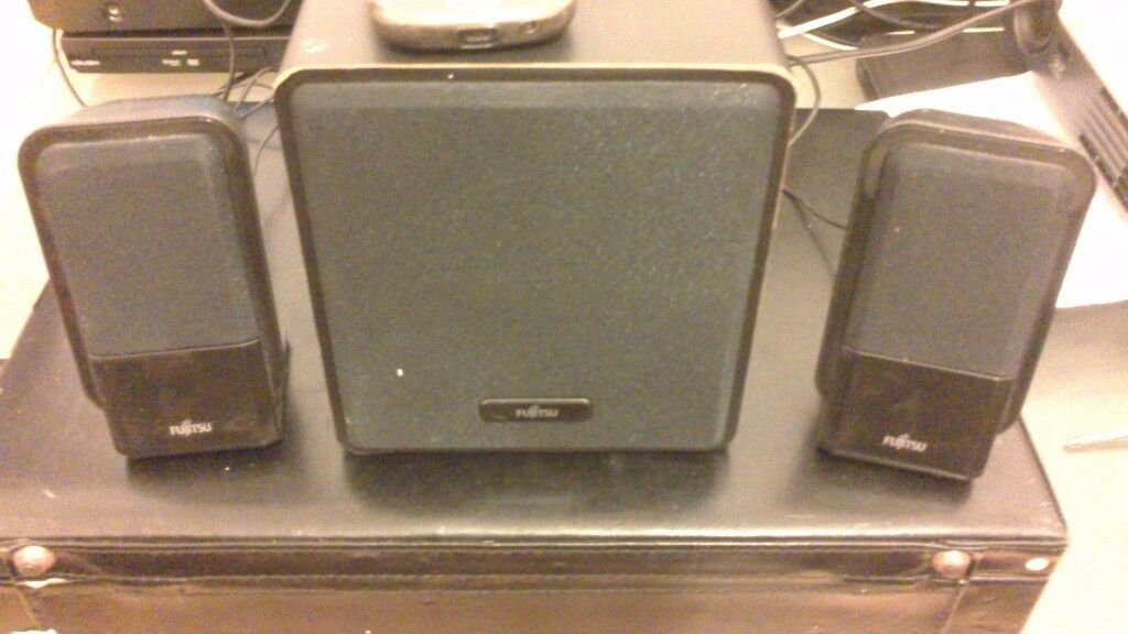 Multimedia speakers with sub woofer