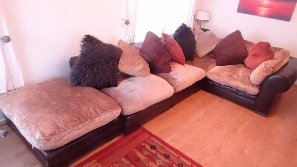 5 piece leather corner suite and all cushions---DFS Hemingway by ...