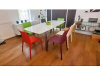 Brand New Danetti Luxurious Contemporary High Quailty White Extendable Gloss Dining Table