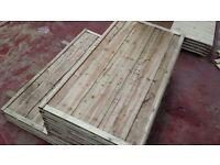 🌟 First Class Heavy Duty Waneylap Fence Panels 8mm Boards