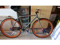 Create Fixie, Matt Grey/Orange bike