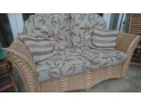 Wicker Sofas and table