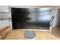 Samsung FHD 27 inc curved monitor