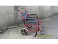LOMAX ATTENDANT WHEELCHAIR COMPLETE IN VERY GOOD COND