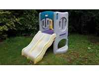 Little Tikes climber and twin slide with tunnel