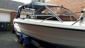 Draco 2300 Suncab Motor Boat Project with 4 Wheel Snipe Trailer