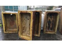 Belfast sinks and antique brown troughs