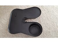 Mic stand cup holder and tray