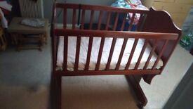 Boori cradle rocking crib in english Oak