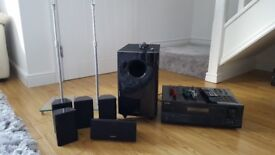 Onkyo HTS 6305 - AV receiver + 5.1 surround speakers + Speaker stand