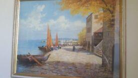 Fishing Village by W Richter ( Print)