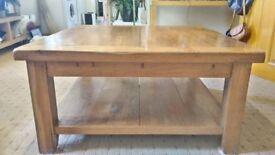 .Solid oak coffee table
