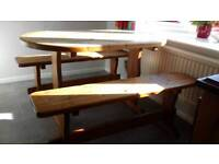 Kitchen Table and Benches