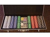 Aluminium case poker set, 500 chips.