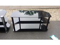 Large black glass tv unit