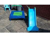 Toddler slide and trampoline