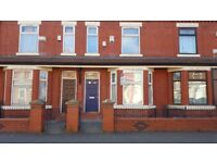 House to let. 3 bed (1 dble, 2 sing). Crofton St, Mcr M14. Student / professional. Bills included