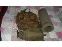 army bundle big rucksack bag.sleeping mat ,bag