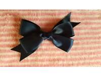 Homemade pinwheel bow.