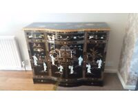 genuine china dresser with mother of pearl figures