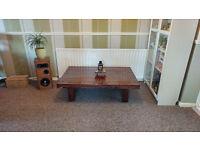 Farmhouse style coffee table.