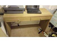 Oak effect office desk