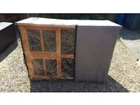 Large 2 storey hutch with all weather cover included. Would suit rabbits, guinea pigs, ferrets etc