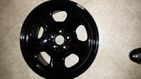 4 BLACK RIMS, LIKE NEW CONDITION