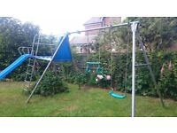 Tp Triple Swing set and slide