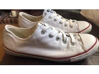White low converse - size 5