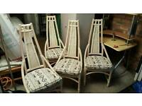 Cane Conservatory Dining Chairs.