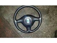 SKODA FABIA VRS STEERING WHEEL