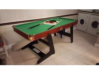 New snooker table 6x3 boxed slight damage see photo