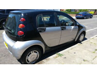 Smart Forfour 1.3 Petrol Semi Automatic Silver & Black