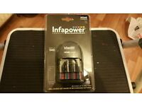Infapower Home Battery Charger plus 4 x AA 1300mAh Rechargeable Batteries