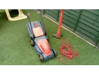 Sovereign electric lawnmower and strimmer