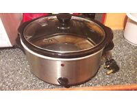 Tesco 3 litre slow cooker with low, high and warm settings. £5. Bar Hill